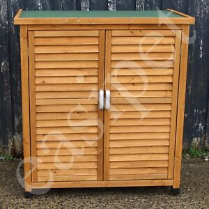 Wooden Garden Shed Outdoor Store Cupboard Tool Storage Lawn Mower Wood Cabinet
