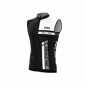 FDX Mens Cycling Gilet Breathable Wind Stopper Running Jacket Soft shell Thermal