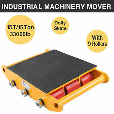 More details for new 33000lbs 15t industrial machinery mover roller dolly skate w/9 rollers top