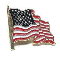 American Patriot Waving Flag Lapel Pin