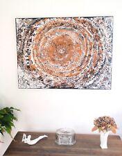 Bild gemalt vom Künstler, Leinwand, 100 x 70 cm, Keilrahmen, schwarz weiß bronze