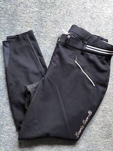 Hkm Lauria Garelli Full Seat Silicone Grip  Breeches. Size 34 Uk 16
