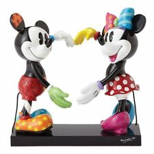 NEW Official Disney Figurine Mickey & Minnie Mouse Love Heart Collectable Britto