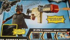 Batman Dark Knight Roll Play Costume Combat Pack 3 In 1 Blaster & Cape Armor NEW