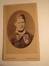 Winterthur - Frau Burgi / Bürgi als junge Frau mit Zopf - Portrait  / CDV