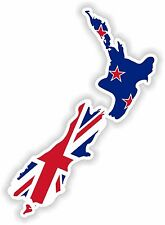 1x STICKER NEW ZEALAND SILHOUETTE BUMPER CAR DECAL MAP FLAG WATERPROOF VINYL