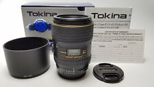 Tokina AT-X Pro D Macro 100mm f/2.8 for Nikon N/AI-AF D in MINT condition