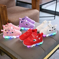Toddler Baby LED Light Shoes Boys Soft Luminous Outdoor Sport Shoes Sneakers AU