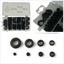 180 Pcs/Set Black Car Truck Assortment Electrical Gasket Rubber Grommet Ring Kit