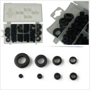 180 Pcs/Set Black Car Truck Assortment Electrical Gasket Rubber Grommet Ring Kit