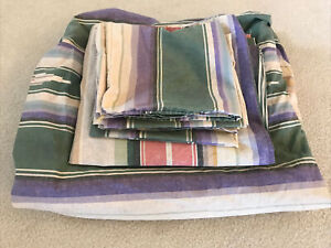 RALPH LAUREN Desert Spring Full Size Flat and Fitted Sheets 2 King Pillowcases