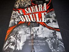 LE SAHARA BRULE  affiche cinema  1961