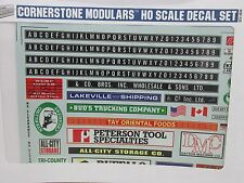 CORNERSTONE ~ BUSINESS SIGN DECALS-SAFETY MARKING FOR DOCKS ~ LOT D ~ HO SCALE
