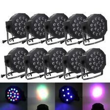 10PCS 18 LED RGB DMX Light PAR CAN DJ Stage Lights for Wedding Party Uplighting