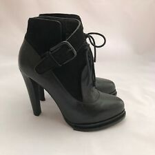 ALEXANDER WANG Ladies Black Leather Ankle Boots - Size EU 37.5