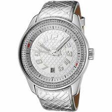 Puma Women's Race Silver Color Leather Band Analog PU101632001 Wrist Watch