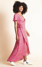 Leopardo Vestido Envolvente Cayenne bailando en rojo Boba-Talla 6. Perfecto para la boda