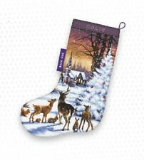 LetiStitch Counted Cross Stitch Kit - LETI 948 Christmas Wood Stocking