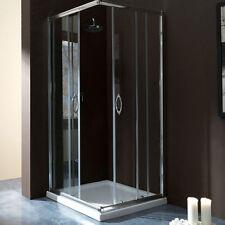 Box doccia quadrato 70x70 in cristallo da 6 mm trasparente apertura angolare