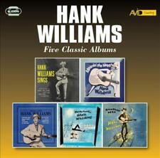 HANK WILLIAMS - FIVE CLASSIC ALBUMS NEW CD