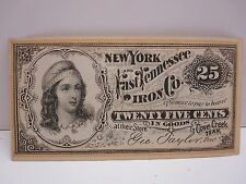 NEW YORK AND EAST TENNESSEE IRON COMPANY 25 CENT FRACTIONAL SCRIPT NOTE