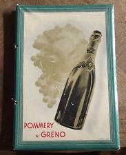 Carton Publicitaire protège menu POMMERY & GRENO Champagne