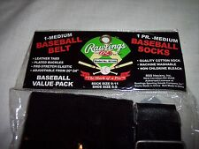 Rawlings, Med Youth  Baseball Adjustable Belt and 1 Pair Socks, Shoe Size 6-9