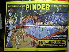 FASCICULE 8 CIRQUE PINDER + AFFICHE 1953 FEERIE SUR GLACE + INSERT