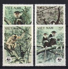 Vietnam WWF 1827/30 postfrisch / Tiere - Affen ........