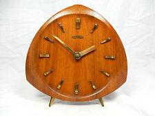 Beautiful 50´s design Konnexa / Junghans Teak table clock  Tisch Uhr  working