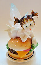 My Little Kitchen Fairies {Cheeseburger Fairy} 2003 Fine Porcelain Figurine