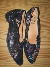 Think! Damen Ballerinas Schuhe Gr.37,5 Echtleder Schwarz  Mehrfarbig Leder