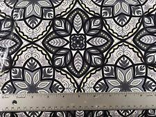 Mystic Canvas Floral Robert Kaufman AVW-15862 305 Graphite - Cotton Fabric