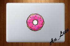 Macbook Air Pro Vinyl Skin Sticker Decal Cute Glow Pink Cartoon Donut CMAC203