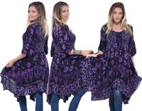 WOMENS TOP BLOUSE SMOCKED LACING GAUZY BATIK MADE TO ORDER Y877 LotusTraders