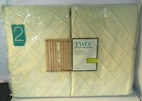 Annecy Duck River Textile 2 Rod Pocket Window Panels Champagne Pleated Design