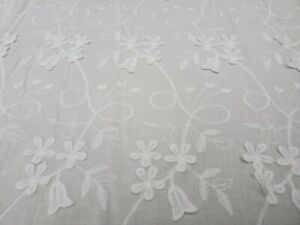 Broderie Anglaise on cotton lawn, 'Paige' (per metre) dress fabric, sewing