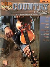 Violin Play-Along Country Classics- Play 8 Of Your Favorite Tunes- Book/Cd- New!