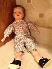 "Antique Boy Composition Doll Unknown Maker No Mark 14"""
