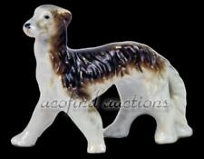 "Antique Afghan Hound 3"" Miniature Porcelain Dog Figurine"