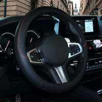 1Pc Car PVC Leather Steering Wheel Cover Anti-slip Protector Fit 38cm/15 mkl
