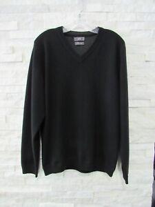 JWN John W. Nordstrom Black 100% Cashmere V-Neck Pullover Sweater M
