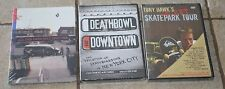 Lot of 3 Skateboarding DVD's Deathbowl to Downtown, Skate Park Tour & Days Roll
