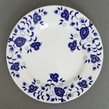 """Pier 1 ELIZA 7 3/4"""" Salad Plate White Blue Flowers Italy"""
