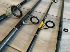 Lot of 4 Fishing Spinning & Fly Rods Shakespeare Ugly Stik & Ocean City & Maxam