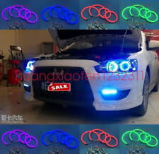 For Mitsubishi Lancer 2008-15 non projector Cotton RGB LED Angel Eyes Halo Rings