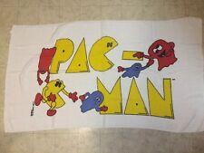 "Vintage 1980s Pac Man & Ghosts Beach Towel Midway Arcade Video Game 56"" x 30"""
