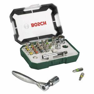 Bosch 26pce Screwdriver Bit and Ratchet Set Colour Coding Suitable for all brand