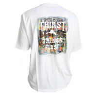 TOMMY BAHAMA Men's T-Shirt THIRST THINGS FIRST Draft Bottled Beer Funny Tee S M