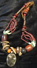 SUBLIME Et Rare Ancien Collier Necklace Tibétain  Tibet Ambre Amber Perle À Voir